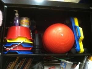school closet top shelf